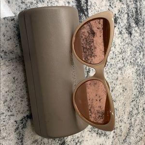 BCBGMAXAZIA Sunglasses with case and cloth.